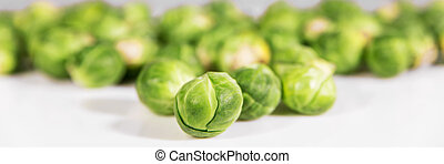 brussel sprouts - panorama with a lot of brussel sprouts