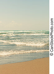 sandy beach in pastel colors - beautiful sandy beach in...