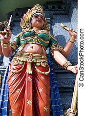 Hindu Deity - Hindu deity at a Hindu temple in Malaysia.