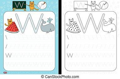 Alphabet Tracing Worksheet - Worksheet for practicing letter...