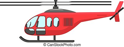 Vector illustration of a cartoon helicopter