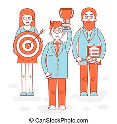 Leadership colorful illustration