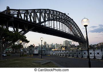 Silhouette of Harbour Bridge, Sydney