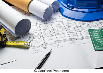 engineering diagram blueprint paper drafting project sketch