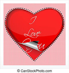 heart on checked background