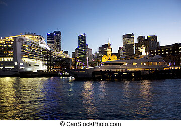 Sydney Opera Quay at Dusk - Image of Sydney Opera Quas at...