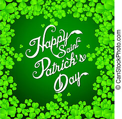 Happy Saint Partrikc's Day Text Background vector...