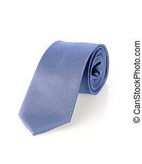 Necktie - Blue necktie isolated on white