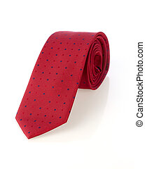 Necktie - Red necktie isolated on white