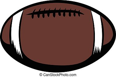 American football icon cartoon - American football icon in...