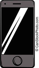 Modern smartphone icon cartoon - Modern smartphone icon in...