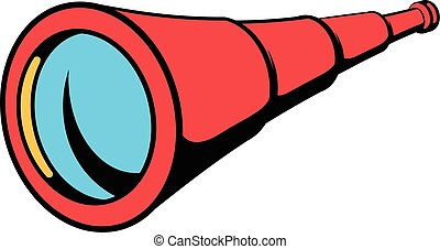 Spyglass icon in icon cartoon - Spyglass icon in icon in...