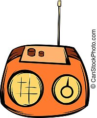 Boom box icon cartoon - Boom box or radio cassette tape...