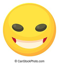 Cunning smiley icon, cartoon style - Cunning smiley icon....