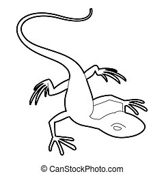 Little lizard icon, outline style - Little lizard icon....