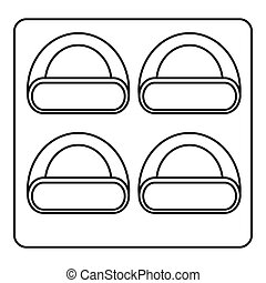 Different sushi icon, outline style - Different sushi icon....