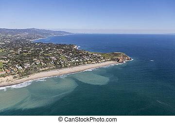 Westward Beach and Point Dume Malibu California - Aerial...