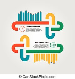 Infographics elements. Bar chart