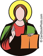 Jesus Christ icon cartoon - Jesus Christ icon in cartoon...