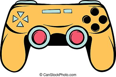 Console joystick icon cartoon