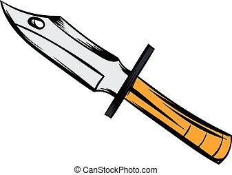 Hunting knife icon cartoon - Hunting knife icon in cartoon...