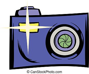 Camera icon cartoon