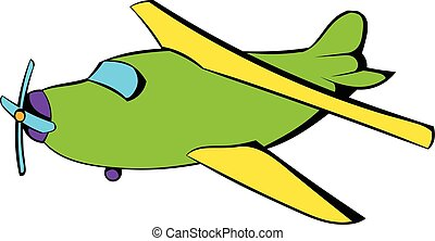 Biplane icon, icon cartoon - Biplane icon in icon in cartoon...