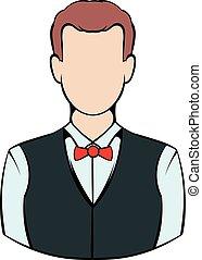 Croupier icon, icon cartoon - Croupier icon in icon in...