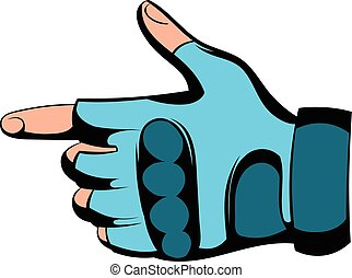 Gloves icon cartoon - Gloves icon in cartoon style isolated...