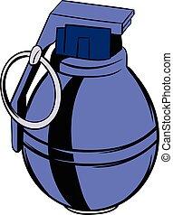 Grenade icon cartoon - Grenade icon in cartoon style...