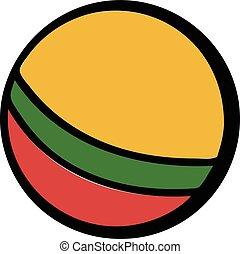 Baby ball icon cartoon