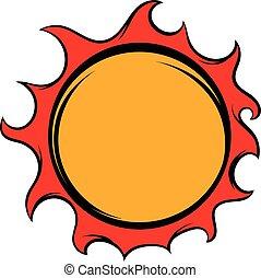 Shiny sun icon, icon cartoon - Shiny sun icon in icon in...
