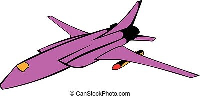 Fighter aircraft icon, icon cartoon