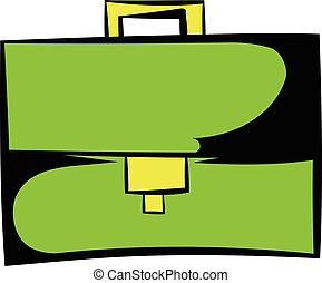 Briefcase icon cartoon - Briefcase icon in cartoon style...