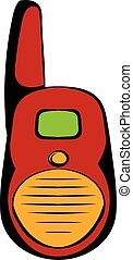 Transmitter icon cartoon - Transmitter icon in cartoon style...