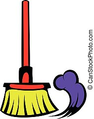 Brush for a floor icon, icon cartoon