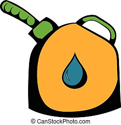 Jerrycan with flexi pipe spout icon, icon cartoon - Jerrycan...