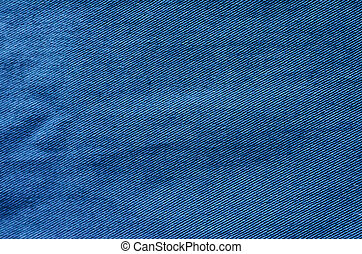 Blue Fabric Texture as Background - Blue fabric background....