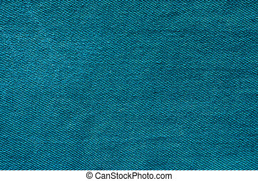 Blue Fabric Texture as Background - Turquoise fabric...
