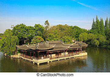 Chinese old style elegant buildings - Chinese old style...