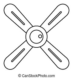 Propeller icon, outline style - Propeller icon. Outline...