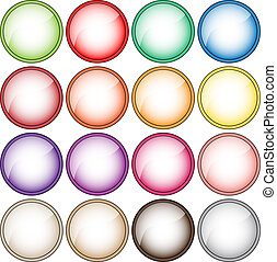 Colorful vector button collection