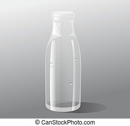 Vector empty glass bottle