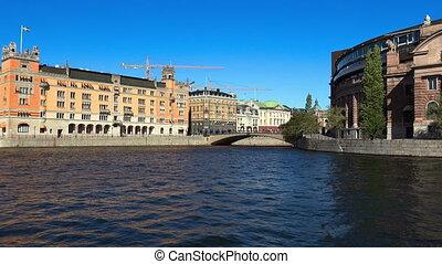 Reichstag building in Stockholm. Sweden. - Reichstag...