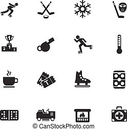 ice rink icon set - ice rink web icons for user interface...