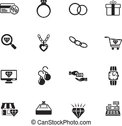jewerly store icon set - jewerly store web icons for user...