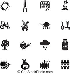 agriculture icon set - agriculture web icons for user...