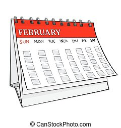 Illustration of Isolated Cartoon Calender. Vector EPS 8. -...
