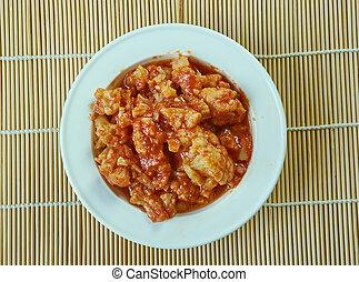Cauliflower Pachadi,Andhra style.