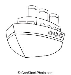 Illustration of Isolated Cute Cartoon Ship. Vector EPS8